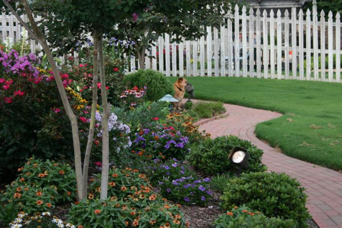 Image Photo Of Landscape Designed By Adams Nursery With Annual And Perennial Flowers